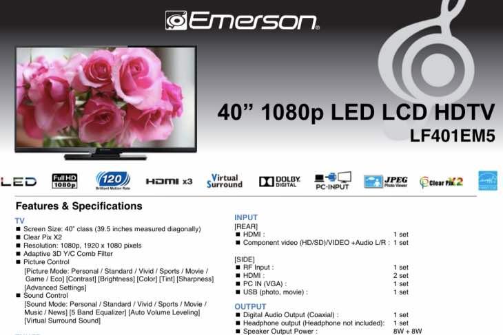 emerson-LF401EM5-specs