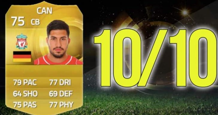 Emre Can FIFA 15 upgrade to 4-star skill CB