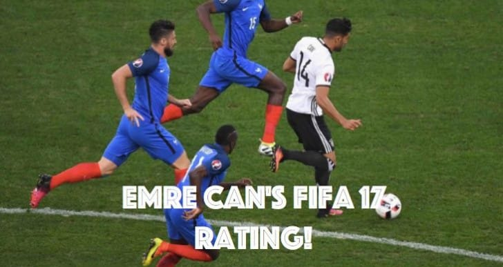 LFC's Emre Can FIFA 17 rating after social media doubt