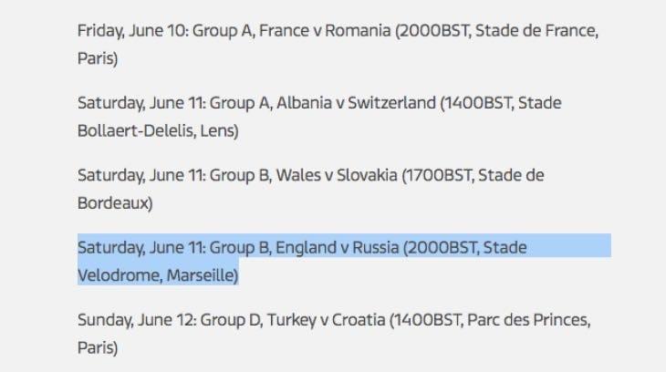 england-russia-kick-off-time-uk-euro-2016