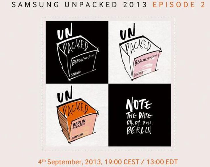 Samsung UNPACKED 2013 live video stream