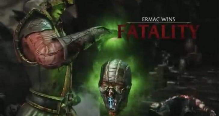 Ermac's Mortal Kombat X fatality and variations in full