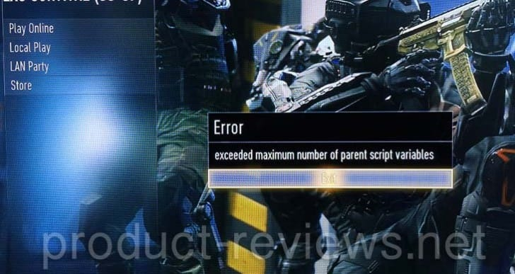 COD: Advanced Warfare PS4 crashing error persists
