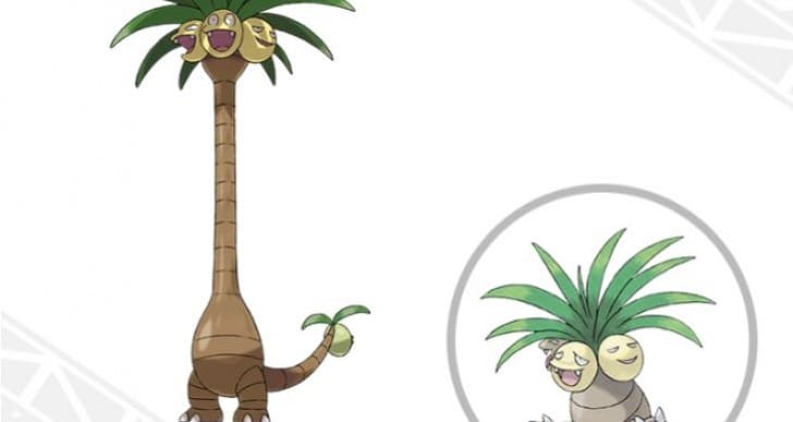 Pokemon Sun and Moon Alolan Exeggutor shock