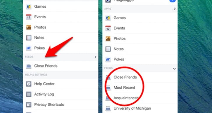 Facebook Most Recent skips default on Android