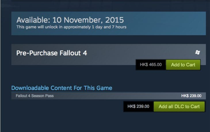 fallout-4-steam-release-time