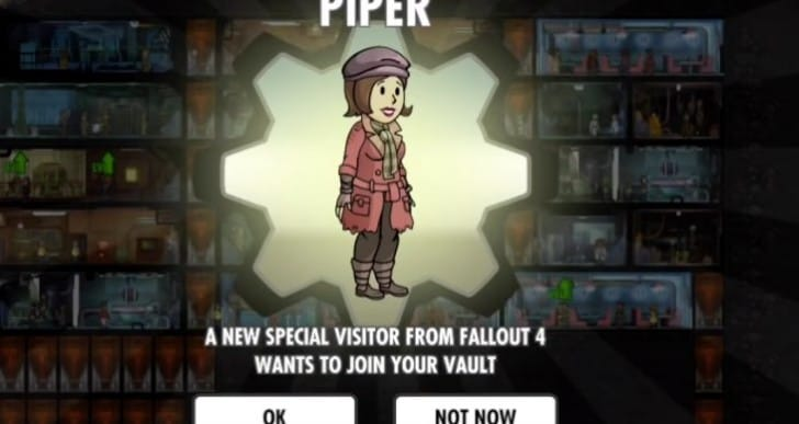 Fallout Shelter Piper release on Android