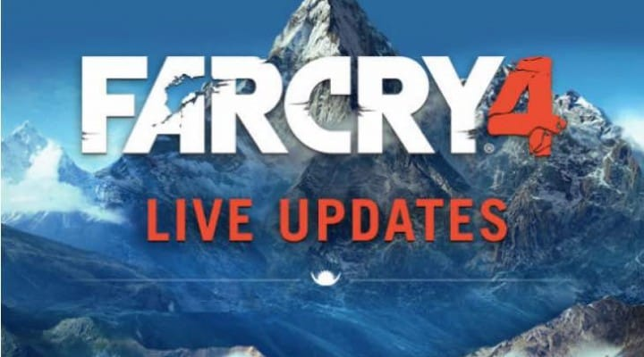Far Cry 4 1.04 update live at 635.5MB