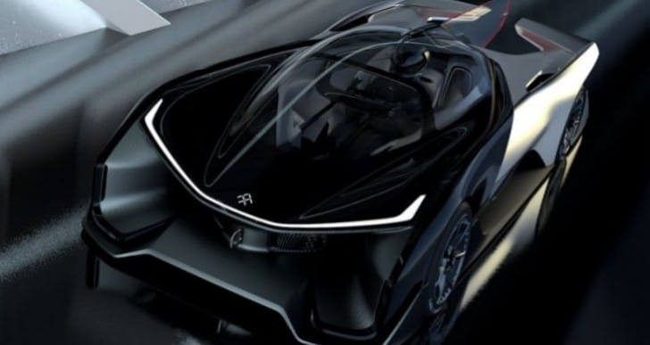 Faraday Future FFZero 1 video compared to Batmobile