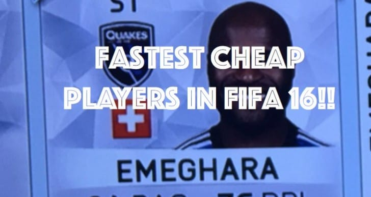 Fastest players in FIFA 16 for cheap coins