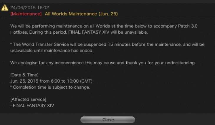 ffxiv-server-maintenance