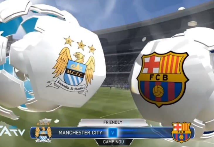 FIFA 14 Neymar Barcelona skills vs Man City