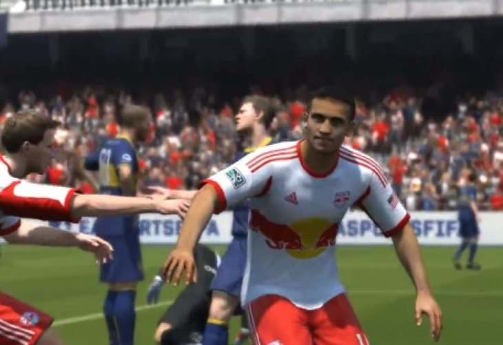 FIFA 14 graphics beauty with slow-mo video