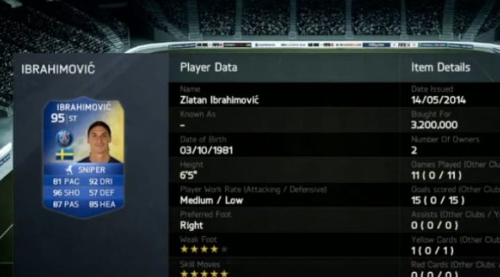 FIFA 14 Ibrahimovic in a pack hope