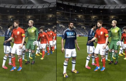 FIFA 14 PS4 Vs Xbox One graphics with contrast