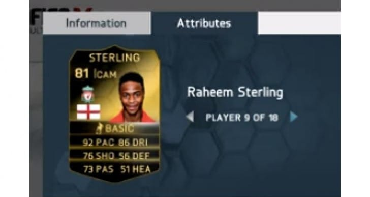 FIFA 14 TOTW with Raheem Sterling predicted