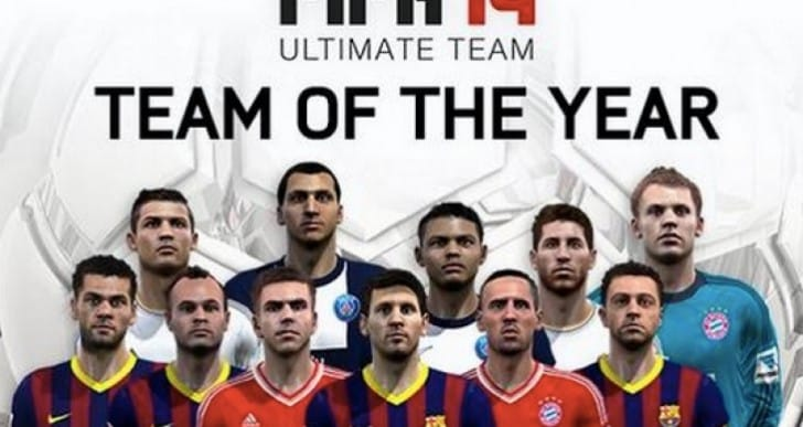FIFA 14 TOTY midfielders release time