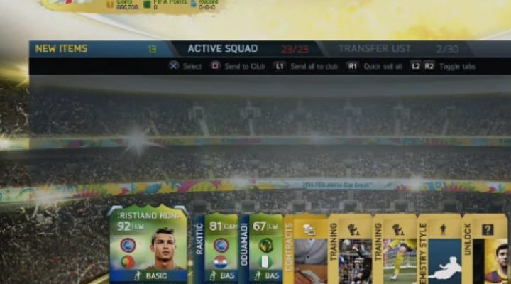 Ronaldo in FIFA 14 World Cup pack is possible