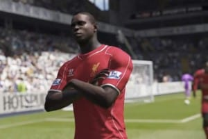 FIFA 15 Balotelli celebration with Liverpool squad