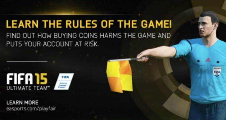 FIFA 15 permanent EA bans for coin traders