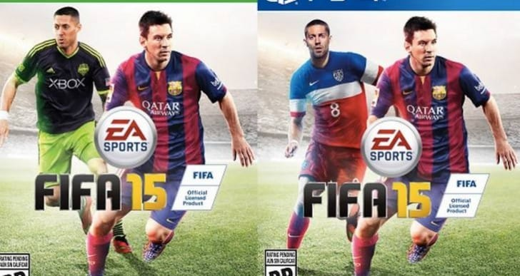 FIFA 15 PS4 Vs Xbox One cover differences