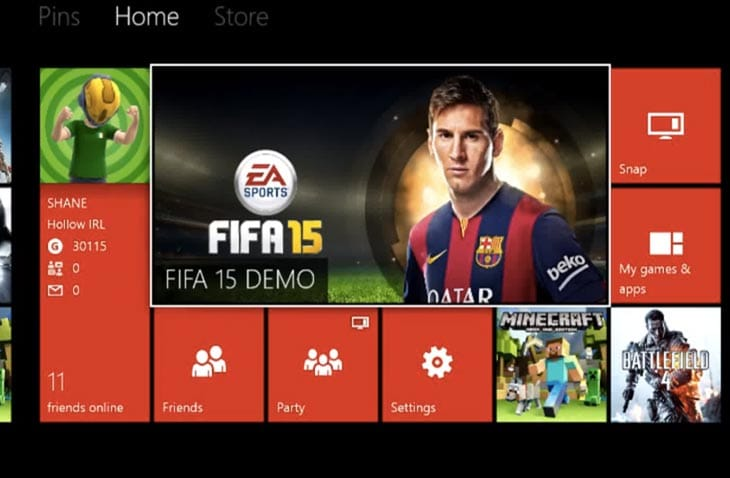 PES 2015 demo before FIFA 15 decisionXbox One Fifa 15