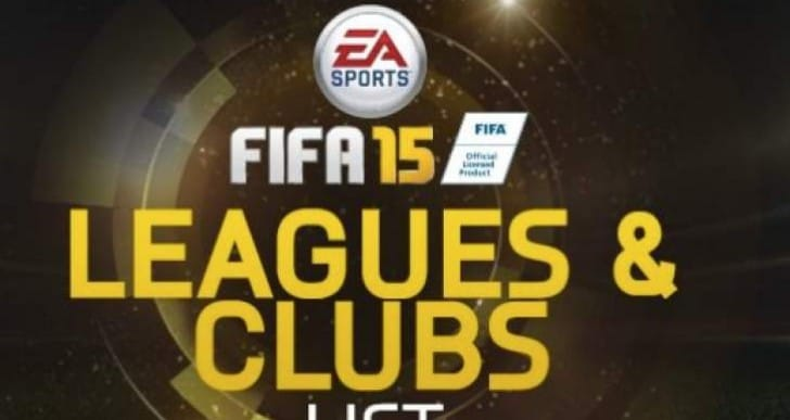 FIFA 15 Leagues and Clubs full list live