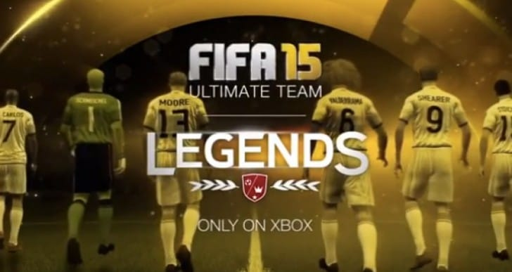 FIFA 15 Legends list with PS4 jealousy