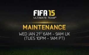 FIFA 15 FUT maintenance brings servers down on Jan 21