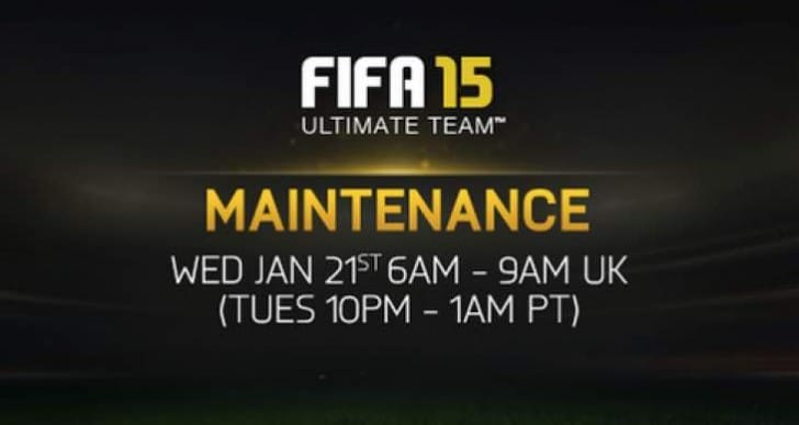 FIFA 15 FUT maintenance brings servers down on Jan 21