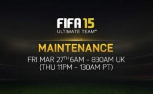 FIFA 15 servers down for FUT maintenance on Mar 27