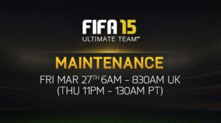 FIFA 15 servers down for FUT maintenance on Mar 27