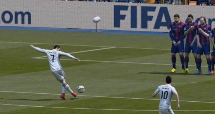 FIFA 15 Rabona free-kick with Ronaldo tutorial