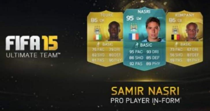 Samir Nasri targeted by FIFA 15 Ultimate Team scam