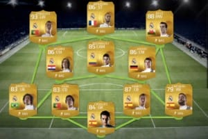FIFA 15 Squad Builder with Rodriguez, Ronaldo and Bale