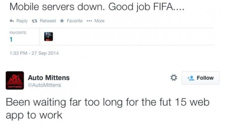 FIFA 15 web app login problem, as FUT server full