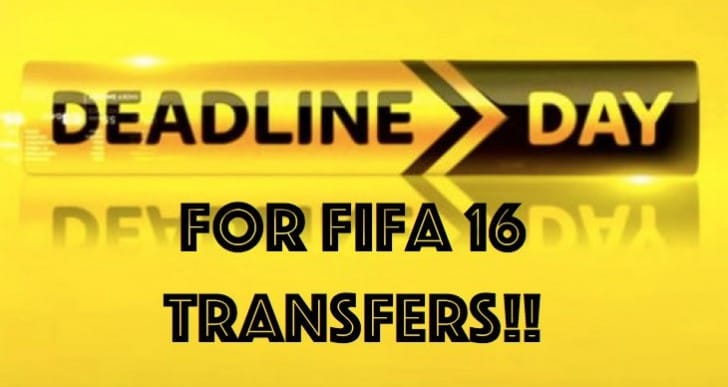 Transfer Deadline Day for instant FIFA 16 updates