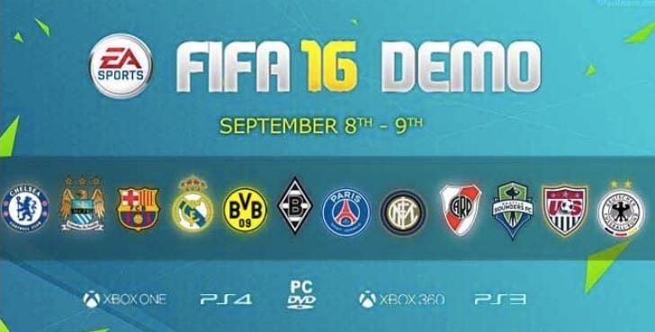 LFC, Man U ignored in FIFA 16 demo team list
