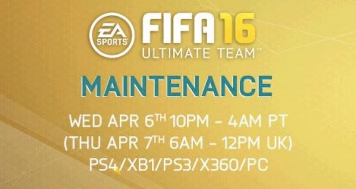 FIFA 16 servers down with April 7 maintenance shock