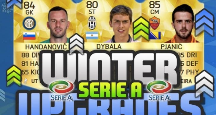 FIFA 16 Winter upgrades for Serie A player ratings