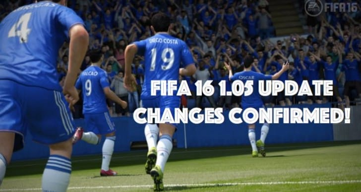 FIFA 16 1.05 update notes for PS4, Xbox One