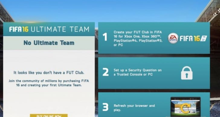 FIFA 16 web app live with Points transfer clarity