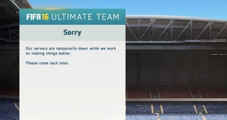 FIFA 16 servers down with Feb 2 maintenance