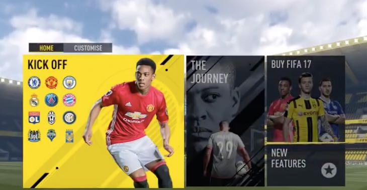 ... FIFA 17 demo will feature The Journey but it won