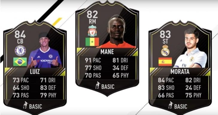 FIFA 17 Ones to Watch team with full lineup