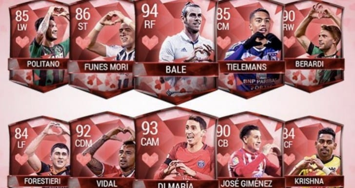 FIFA 17 Valentine's Day Heartbreakers or free packs, SBC
