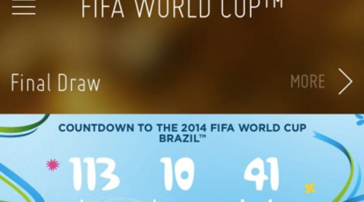 Official FIFA World Cup 2014 iPhone, Android app