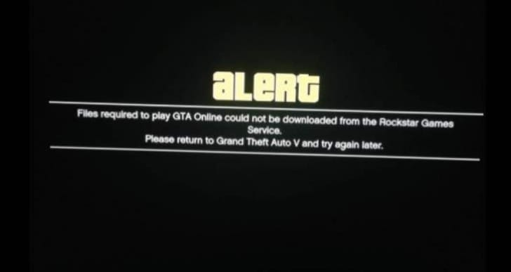 Files required brings GTA Online servers down again