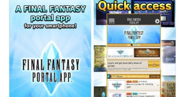 Final Fantasy Portal app with Triple Triad trickery