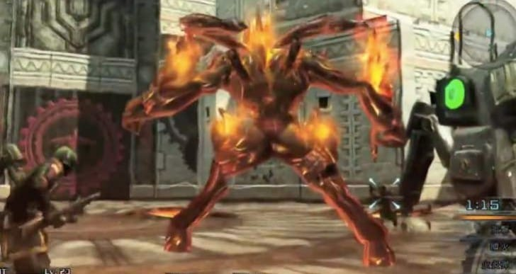 Final Fantasy Type 0 HD gameplay with Ifrit